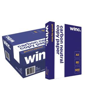Winc Copy Paper Carbon Neutral 80gsm A3 White Box 3 Reams