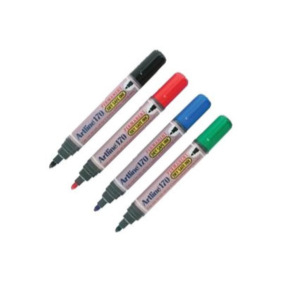 Artline 170 Permament Marker Drysafe Bullet Assorted Box 12