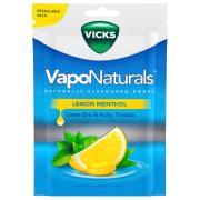 Vicks Vaponaturals Lemon Menthol Drops 70g Pack