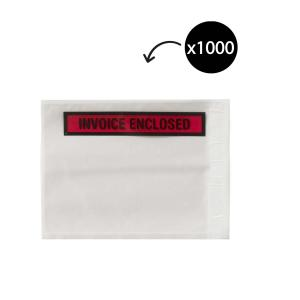 Winc Packaging Envelope Adhesive Invoice Enclosed 155 x 115mm Box 1000