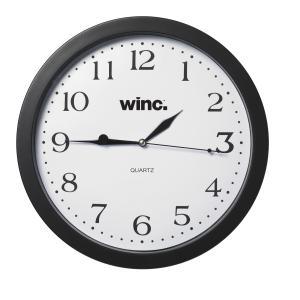 Winc Wall Clock 30cm Diameter Frame Black Winc