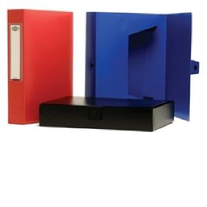 Marbig Box File With Button A4 Black