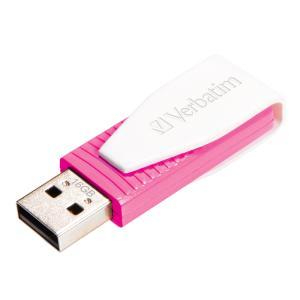 Verbatim Store 'n' Go Swivel 16 GB USB 2.0 Flash Drive - Pink