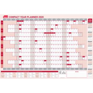 Sasco 2020 Compact Year Wall Planner 594 x 420mm