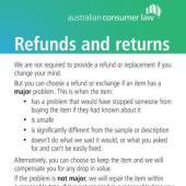 Our Refund Policy Sticker
