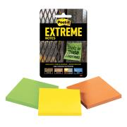 Post-it Extreme Notes Assorted 76mmx 76mm - 3 Pack