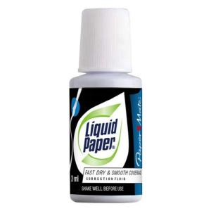 Liquid Paper Bottle And Brush Correction Fluid 20ml