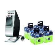 Dymo 4x Labelwriter Standard Address Labels + LabelManager Plug n Play Labeller Bundle Pack