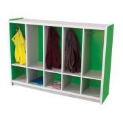 Nadoli Kid Smart Coat Locker 900H x 1654W x 400Dmm Green