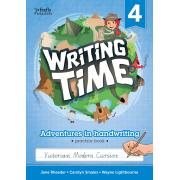Writing Time 4 (Victorian Modern Cursive) Student Practice Book