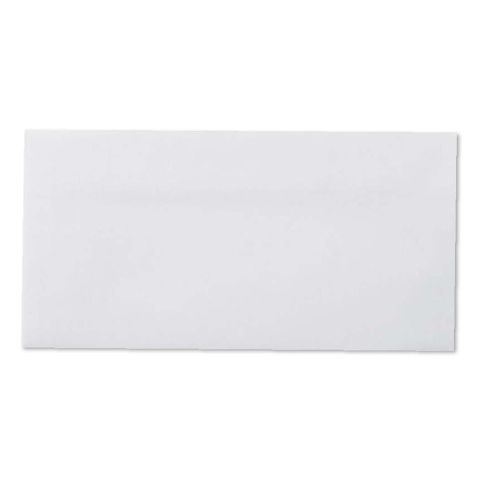 Winc DL Plainface Wallet Press Seal Envelope White 110 x 220mm Box 500