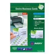 Avery Enviro Business Card Laser + Inkjet 220GSM 85 x 54mm Matte White Pack 250