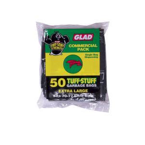 Glad Premium Garbage Bag 28Um 70-77 Litre Black Pkt50