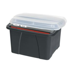 Crystalfile Porta Box Black Base Clear Lid