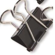 Officemax Metal Foldback Clip 32mm Black/silver Pack Of 12