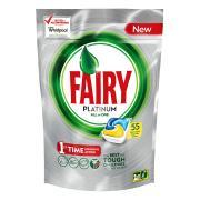 Fairy Autodish Tab Platinum Lemon Pack 55