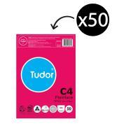 Tudor 140263 C4 Plainface Peel-N-Seal Envelope - White - 324 x 229 mm - Pack 50