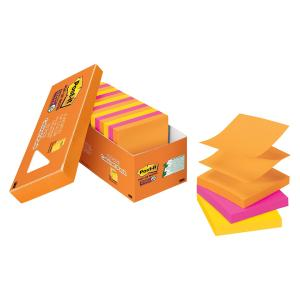 Post-It Super Sticky Notes Pop-Up Rio De Janeiro Collection 76 x 76mm Cabinet Pack 18