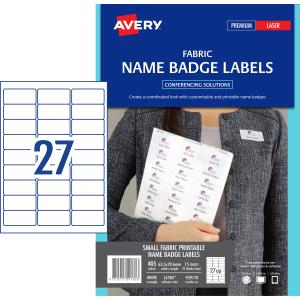 avery fabric name badge labels for laser printers 63 5 x 29 6 mm