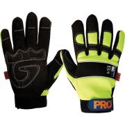 Paramount Safety Pty-M Profit Glove Full Finger Reinforced Palm High Visibility Yellow Pair