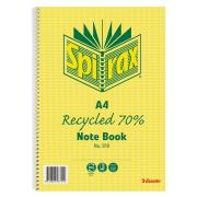 Spirax 810 Recycled Notebook A4 120 Page