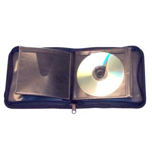 Colby CD Case Workmate 24 Capacity With Zip Black Wmcd24
