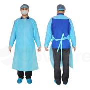 Disposable Isolation Gowns ISO001 Non-sterile Blue Bag 10