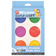 Micador Early Start Washable Paint Discs Bright Pack Of 6