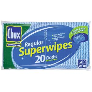 CHUX Original Superwipes 60 x 30 cm Blue Pack 20