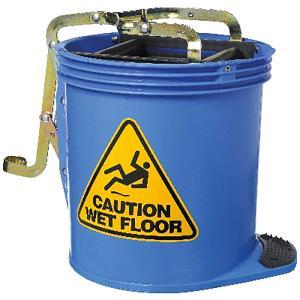 Cleera Heavy Duty Wringer 16L Mop Bucket on Wheels Blue