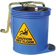 Cleera Heavy Duty Wringer Mop Bucket on Wheels 15L Blue