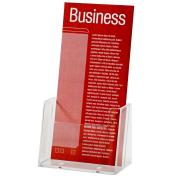 Esselte Brochure Holder Free Standing 1 Tier 1 Compartment Portrait DL Clear