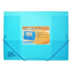 Beautone Cool Frost Document Wallet A4 3 Flap Blue Image