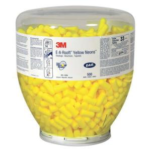 3m E-A-Rsoft 391-1008 Uncorded Dispenser Refill Earplugs 23Db Class 4 Yellow Box 500 Pairs