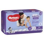 Huggies Ultra Dry Nappy Pants Toddler Boy Pack 29 Carton Of 4