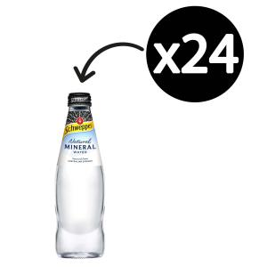 Schweppes Natural Mineral Water 300mL Bottle Carton 24
