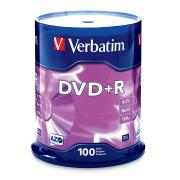 Verbatim DVD+R 4.7 GB / 16x / 120 Min - 100-Pack Spindle