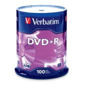 Verbatim DVD+R 4.7 GB / 16x / 120 Min - 100-Pack Spindle