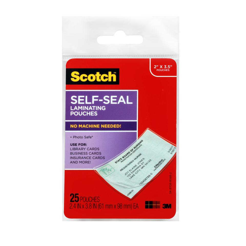 Scotch Self Laminating Products Clear Pack 25