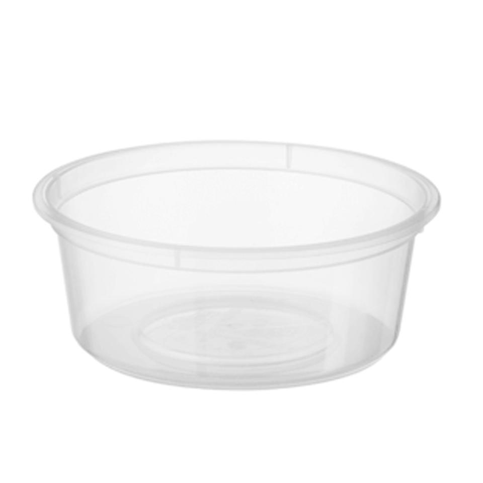 Castaway Microready Takeaway Food Containers Small Round 70ml Clear Carton 1000