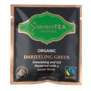 Serenitea Infusions Fairtrade Organic Green Tea Enveloped Pyramid Tea Bags Pack 100