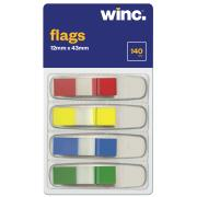 Winc Flags Mini 12x43mm Assorted Colours 140 Sheets