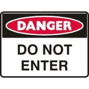 Brady 835272 Sign Danger Do Not Enter Polypropylene 450X600mm Each