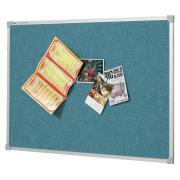 Quartet Bulletin Board Penrite Fabric 600h x 900wmm Wedgewood Blue
