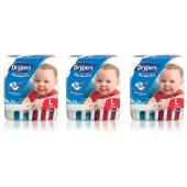 Drypers Nappies Toddler Large Pack 62 Carton Of 3