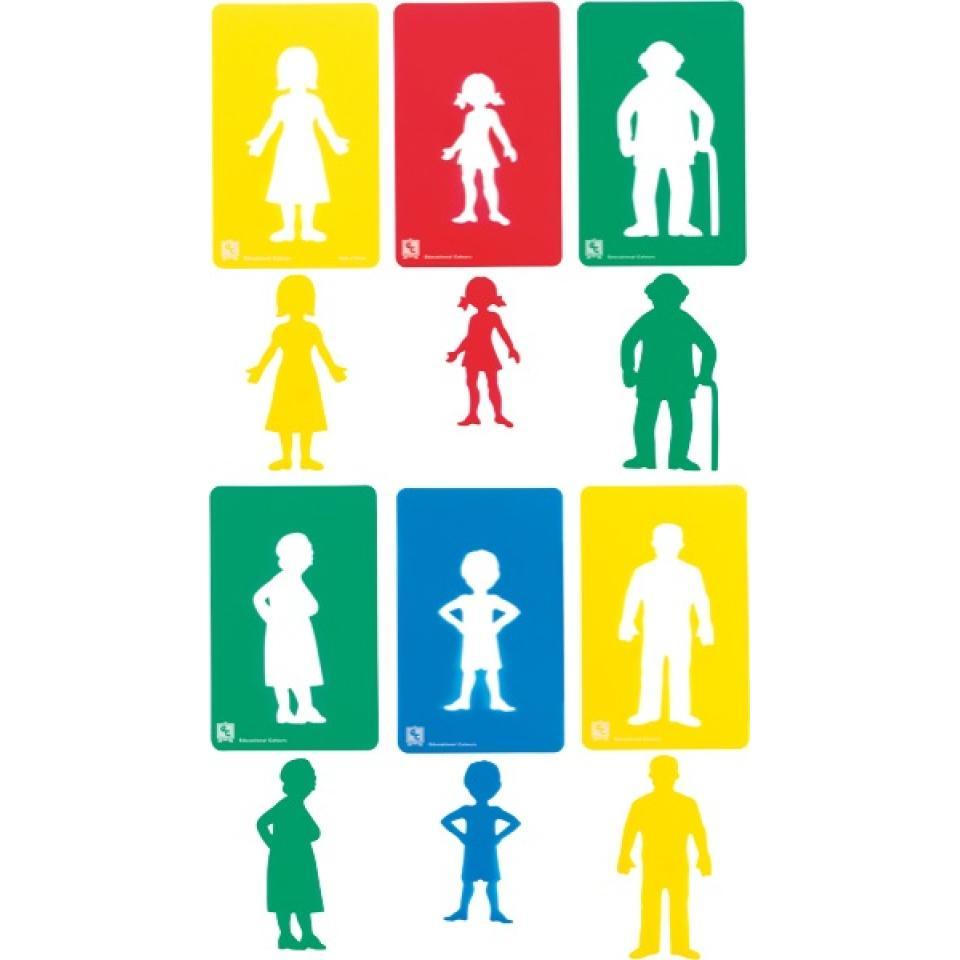 Ec Family Members Stencils Set Of 6