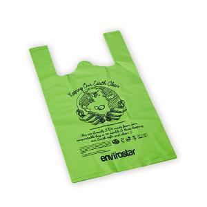 Envirostar Large Singlet Bag Green Compostable 35um Printed Pack 100 Carton 5