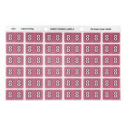 Avery 8 Side Tab Colour Coding Labels for Lateral Filing - 25 x 38mm - Mauve - 180 Labels