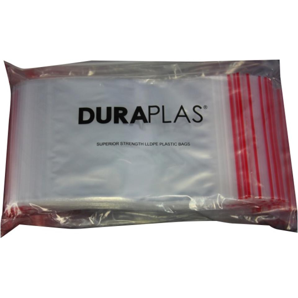 Duraplas Press Seal Bags 180x250mm 40um Carton Of 1000