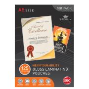 GBC A5 125 Micron Gloss Laminating Pouches 100 Pack